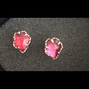 Red stone Kendra Scott earring